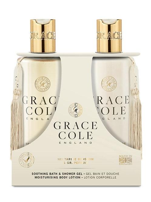 Grace Cole Nectarine & Grape Fruit Body Care Duo - Schoonheidssalon Saona Aalst