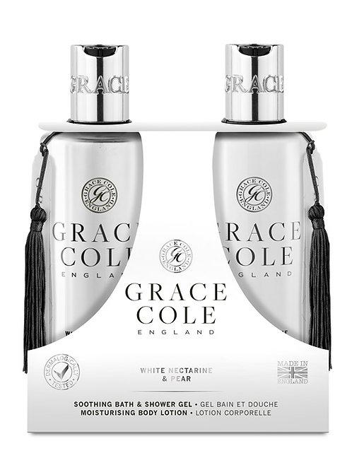 Grace Cole Nectarine & Pear Body Care Duo - Schoonheidssalon Saona Aalst