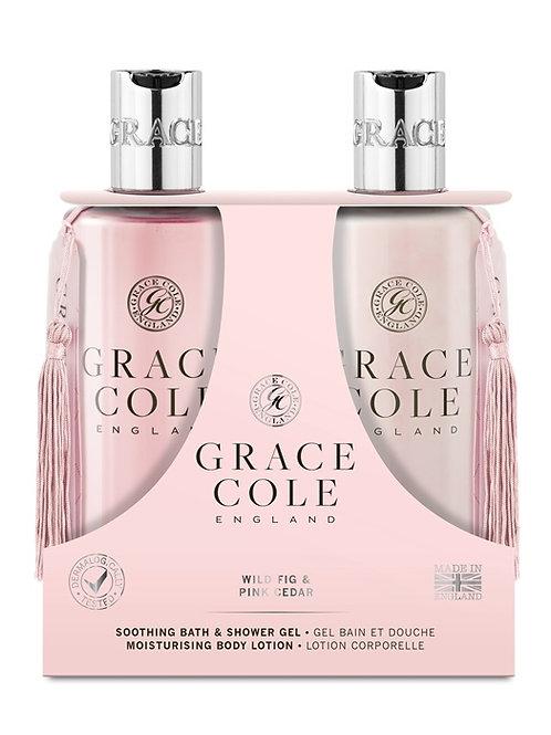 Grace Cole Wild Fig & Pink Cedar Body Care Duo - Schoonheidssalon Saona Aalst