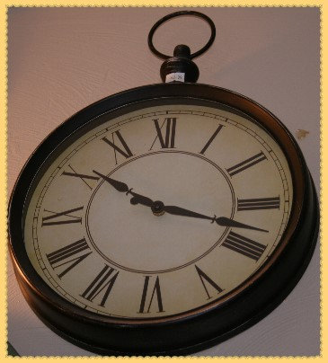 Black Stop Watch Top Wall Clock