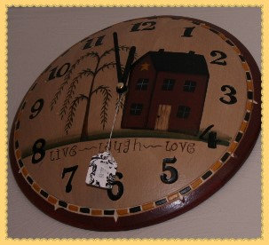 Live - Laugh - Love Wall Clock