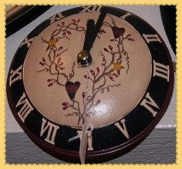 Heart & Vine Wooden Wall Clock
