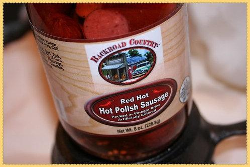 Red Hot Polish Sausage 8 oz
