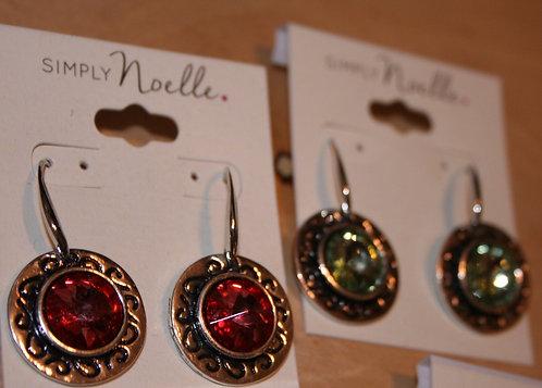 Simply Noelle Bezel Gemstone Drop Earrings