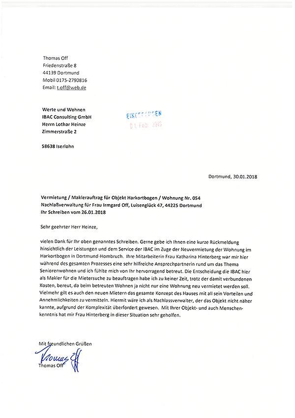 Referenz Vermietung Dortmund