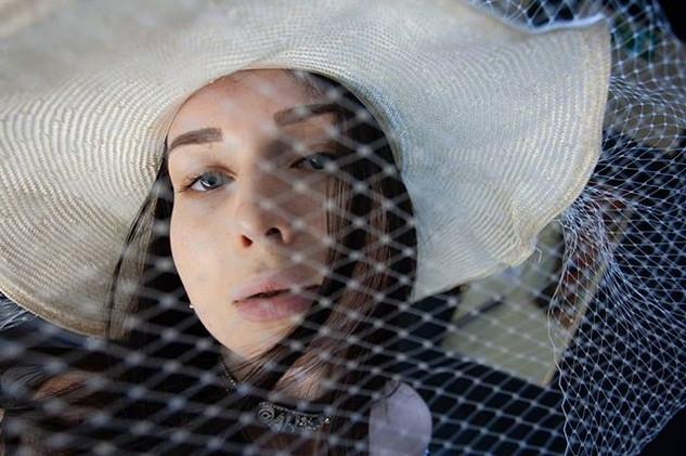 The hat. Photoshoot with Anastasiia.