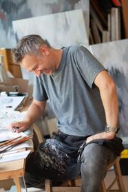 Artist at home. Oliver Hilton