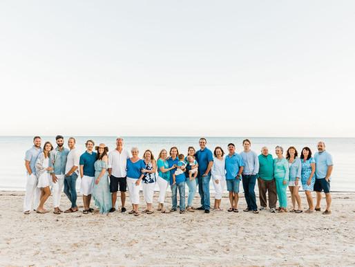 Florida Keys Large Family Photo Session