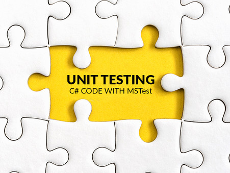 Unit Testing C# Code with MSTest