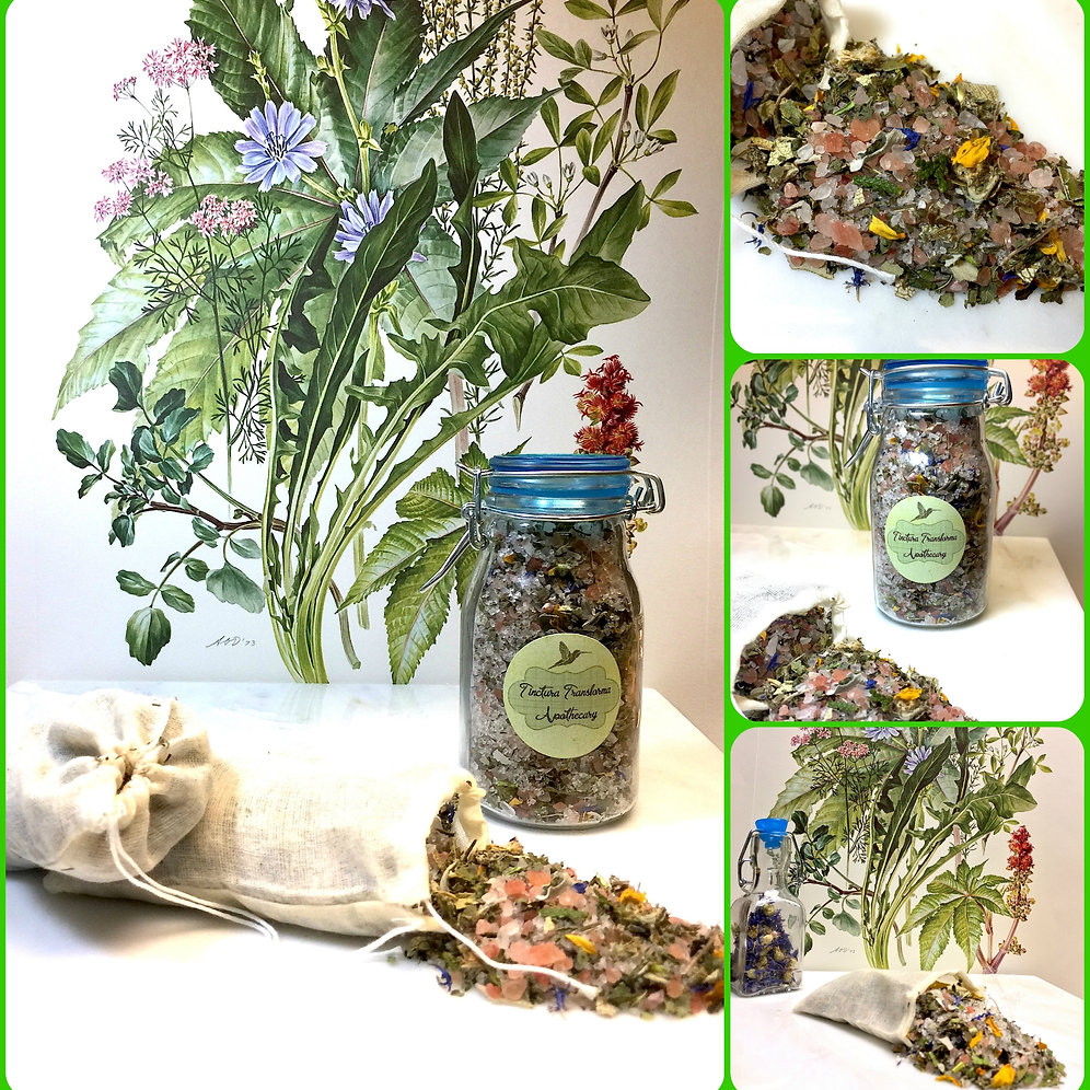 Enchanted Herbal Distress Bath Salt - Meditation, Lucid Dreaming, Relaxation