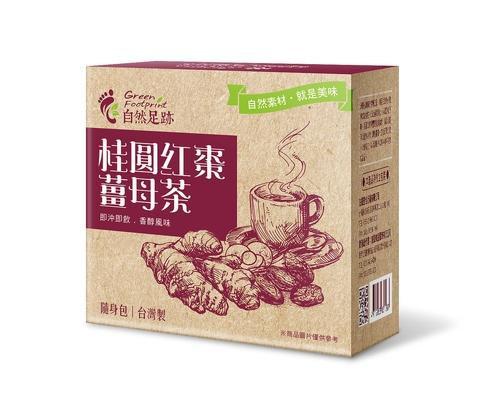 自然足跡 黑糖薑母茶(桂圓紅棗) 20g*8包