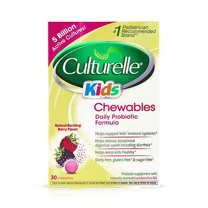 CULTURELLE 兒童益生菌水果咀嚼片30片