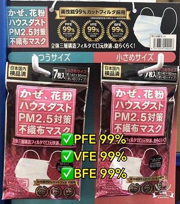 日本內銷版Passione 3防口罩 S碼 (1包7個)