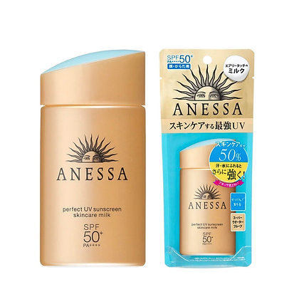 Anessa Perfect UV Sunscreen skincare milk SPF50+ 安耐晒金色 60ML