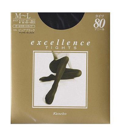 Kanebo Excellence Tights 美腿褲襪M-L 純黑色