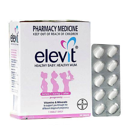 ELEVIT HEALTHY BABY HEALTHY MUM 愛樂維孕婦複合維生素葉酸片 100粒