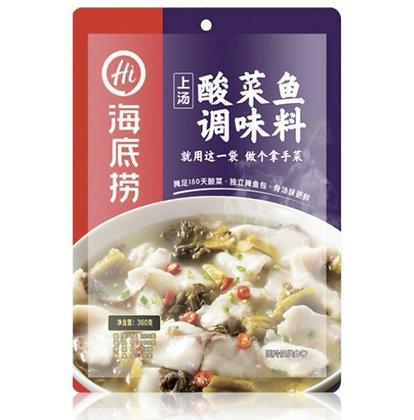 海底撈 上湯酸菜魚調味包(內附醃魚包)360g