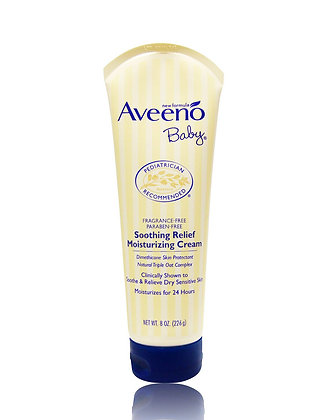 Aveeno Baby Soothing Relief Moisturizing Cream 嬰兒燕麥潤膚乳液 226G 深藍