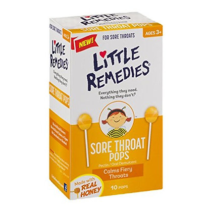 美國止咳棒棒糖 Litte Remedies Sore Throat Pops