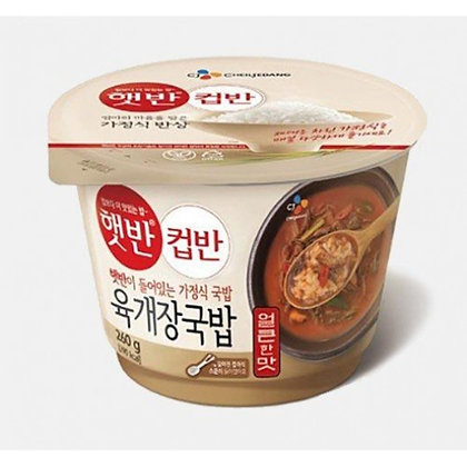 韓國 CJ Spicy beef soup rice CJ 辣牛肉湯飯(260g)