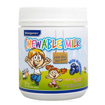 澳洲Maxigenes美可卓藍莓牛奶咀嚼片兒童 150粒