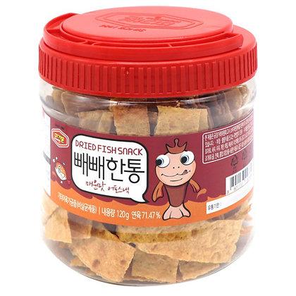 Murgerbon 韓國烤魚片桶 (辣味-紅色) 120g