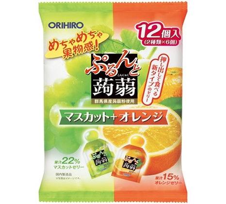 Orihiro 雙色果凍 #青葡萄+橙子味