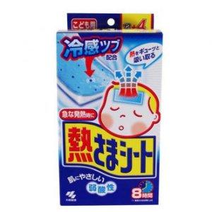 Japan 小林製藥 小童退熱貼藍色盒