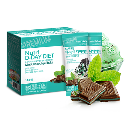 Nutri D-Day Mint Chocolate Diet Shake Powder 薄荷朱古力減肥奶昔代餐