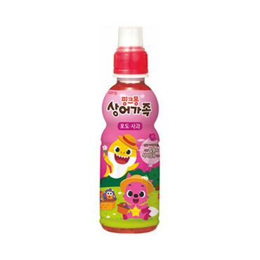 Lotte Pinkfong 碰碰狐 葡萄蘋果味果汁
