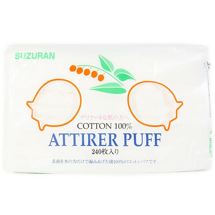 Suzuran Attirer Puff 日本棉花240枚