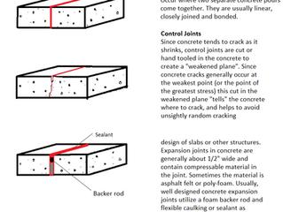 Concrete Cracking-Control Joints