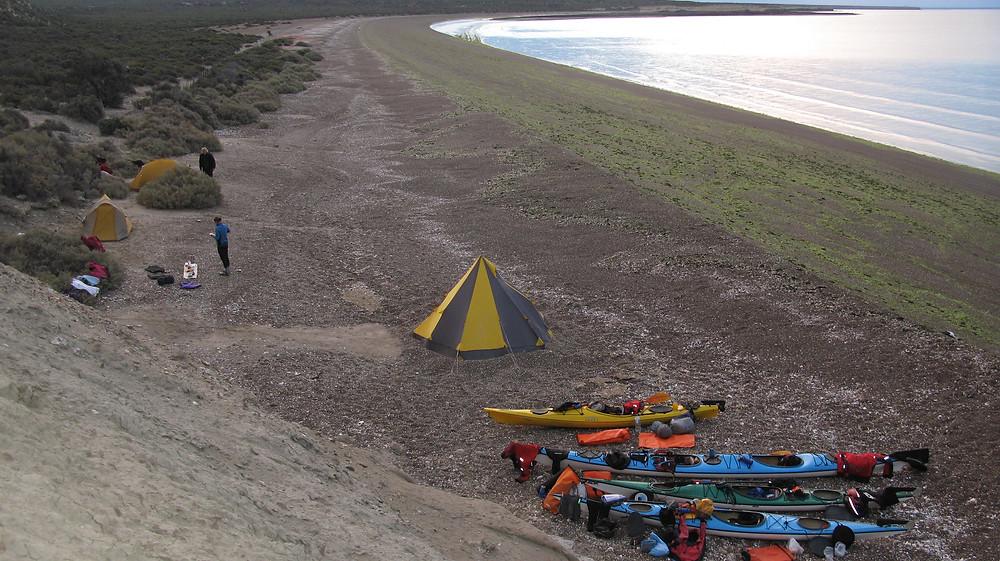 Sea Kayak in Patagonia, Camp in Enchanted Bay