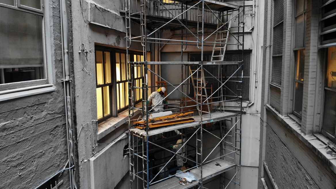 exterior abatment in San Fransisco , all 10 floors