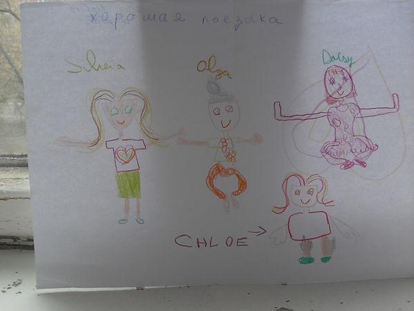 """Практикующие дети цигун по Методу Полного Совершенства Народного Мастера цигун, г-на Ли Хунчжи, в знак благодарности сами нарисовали этот рисунок, на котором изобразили себя, выполняющими 5-ый комплекс гун-фа """"СОЗЕРЦАНИЕ"""" (лето 2018 г. Фуенгирола, Испания)."""