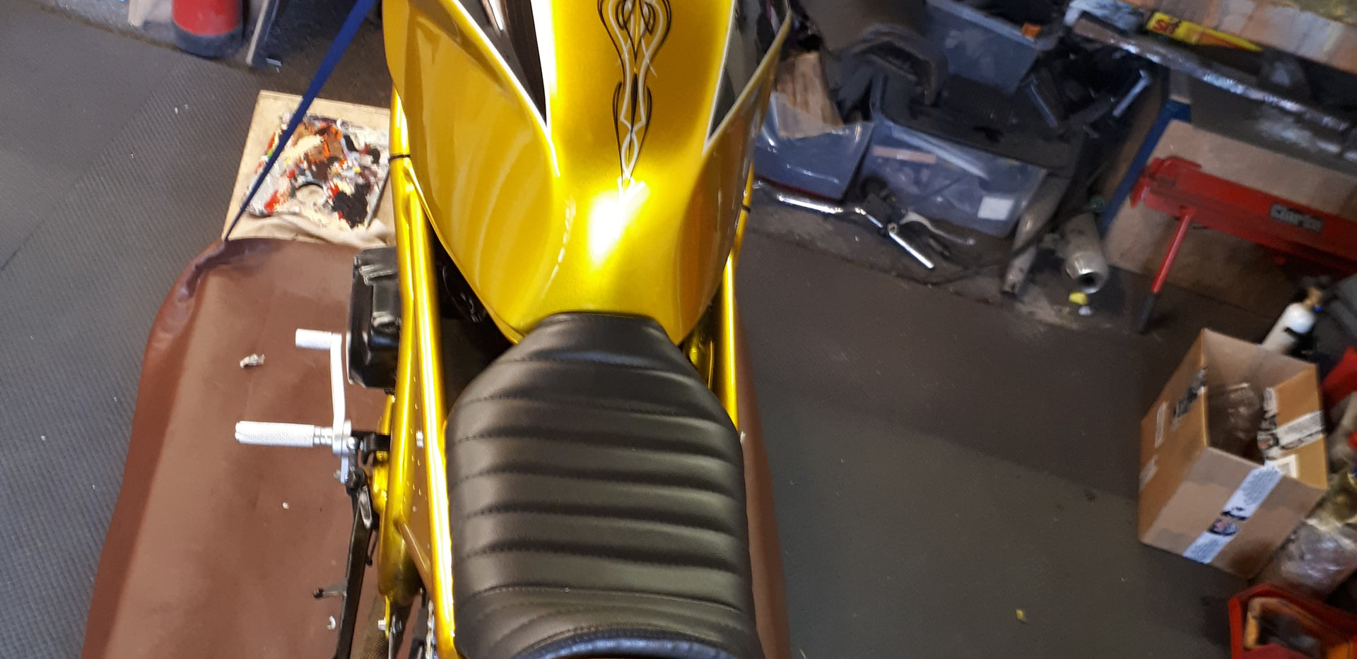 Pinstriped motorbike