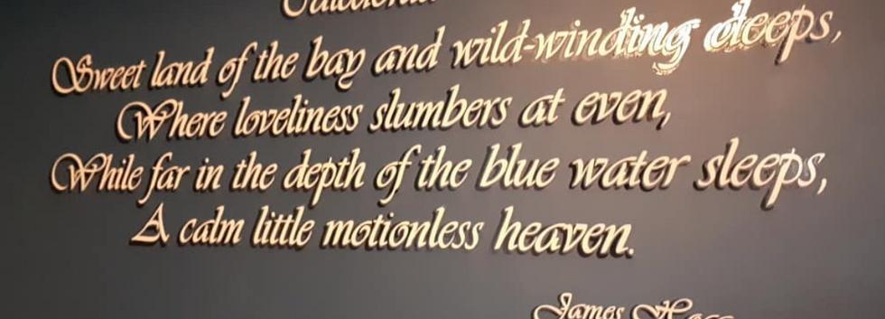 Handpainted poem