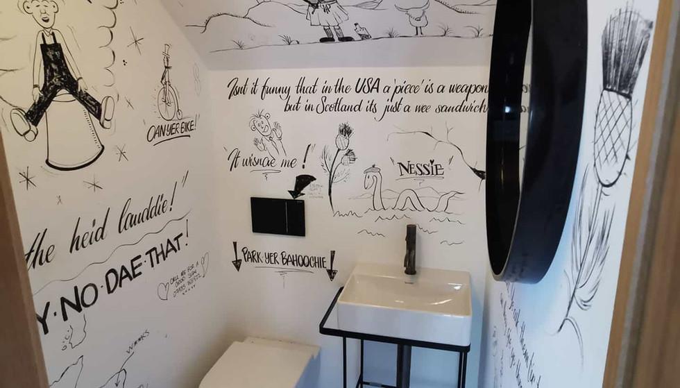Handpainted Bathroom Mural