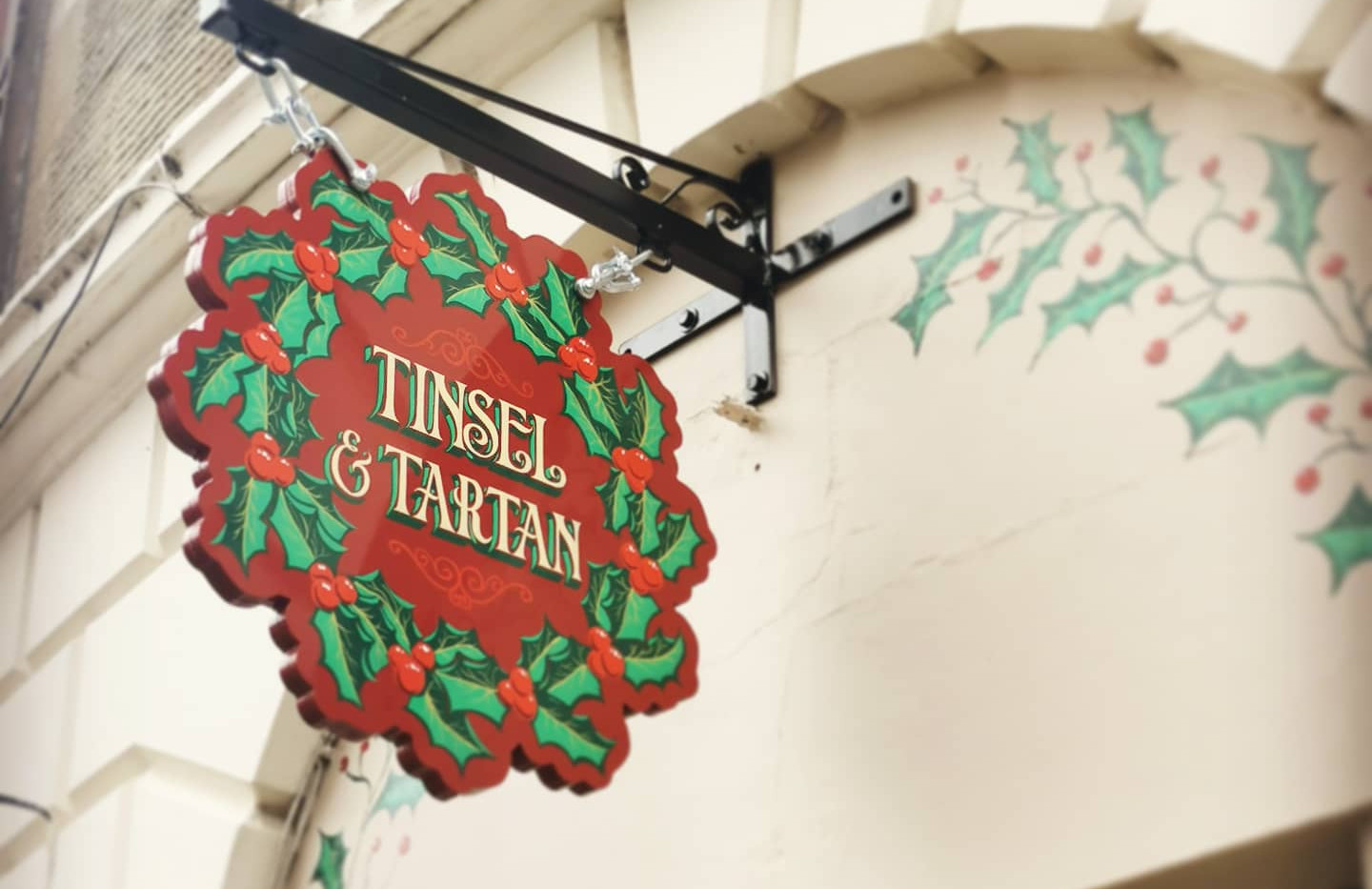 Tinsel Hanging Sign