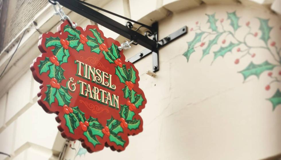 Tinsel Hanging Sign