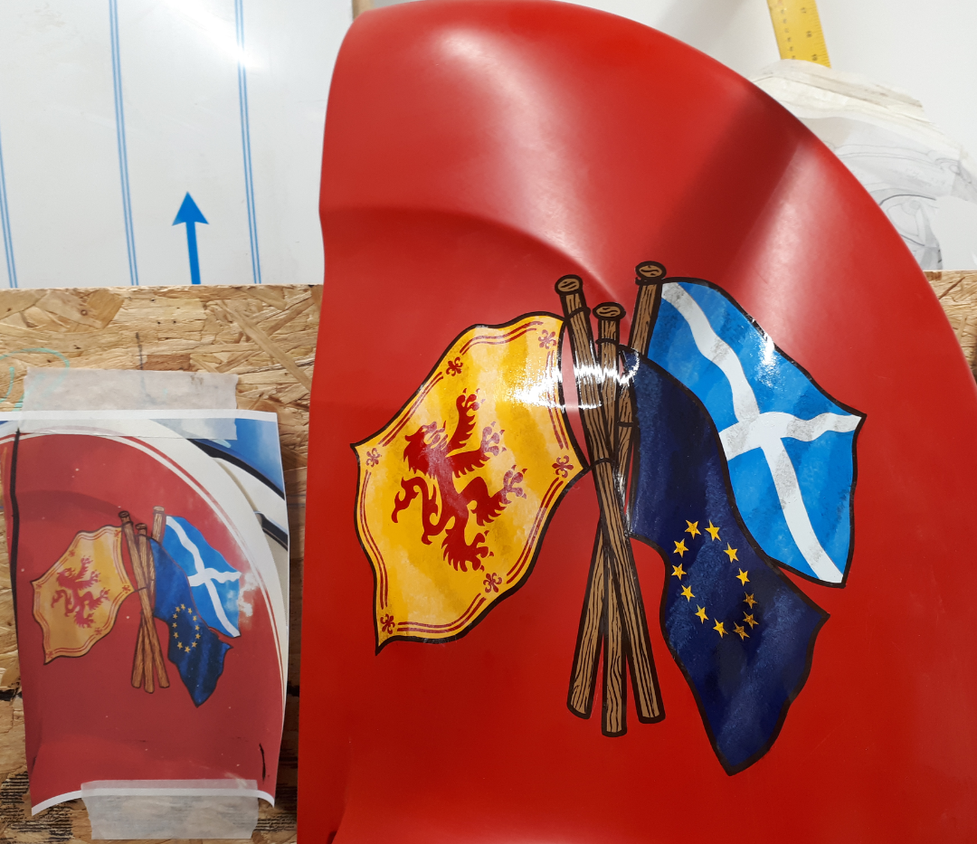 Handpainted flags