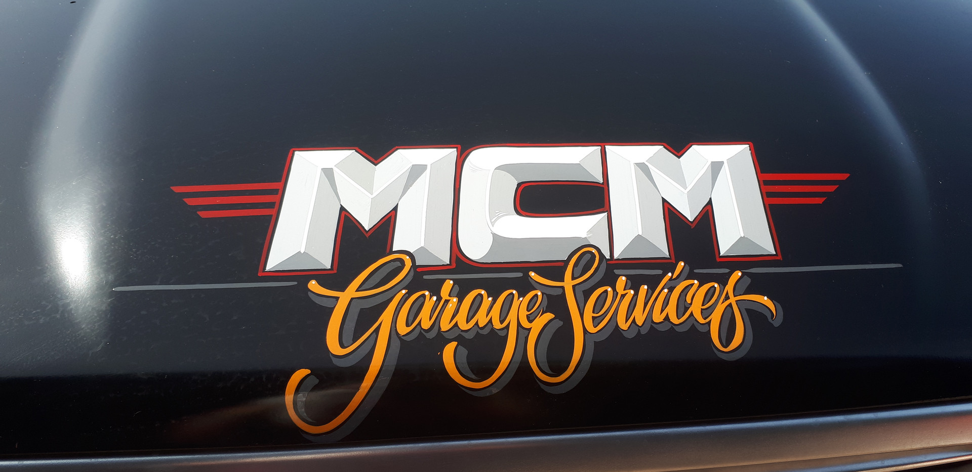 Toyota Hilux Hand Painted Signwriting