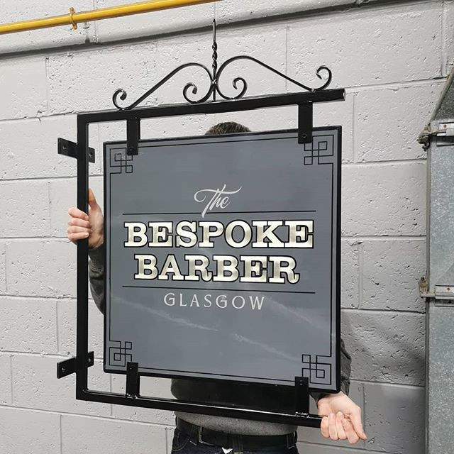 Projecting sign we made for _the_bespoke