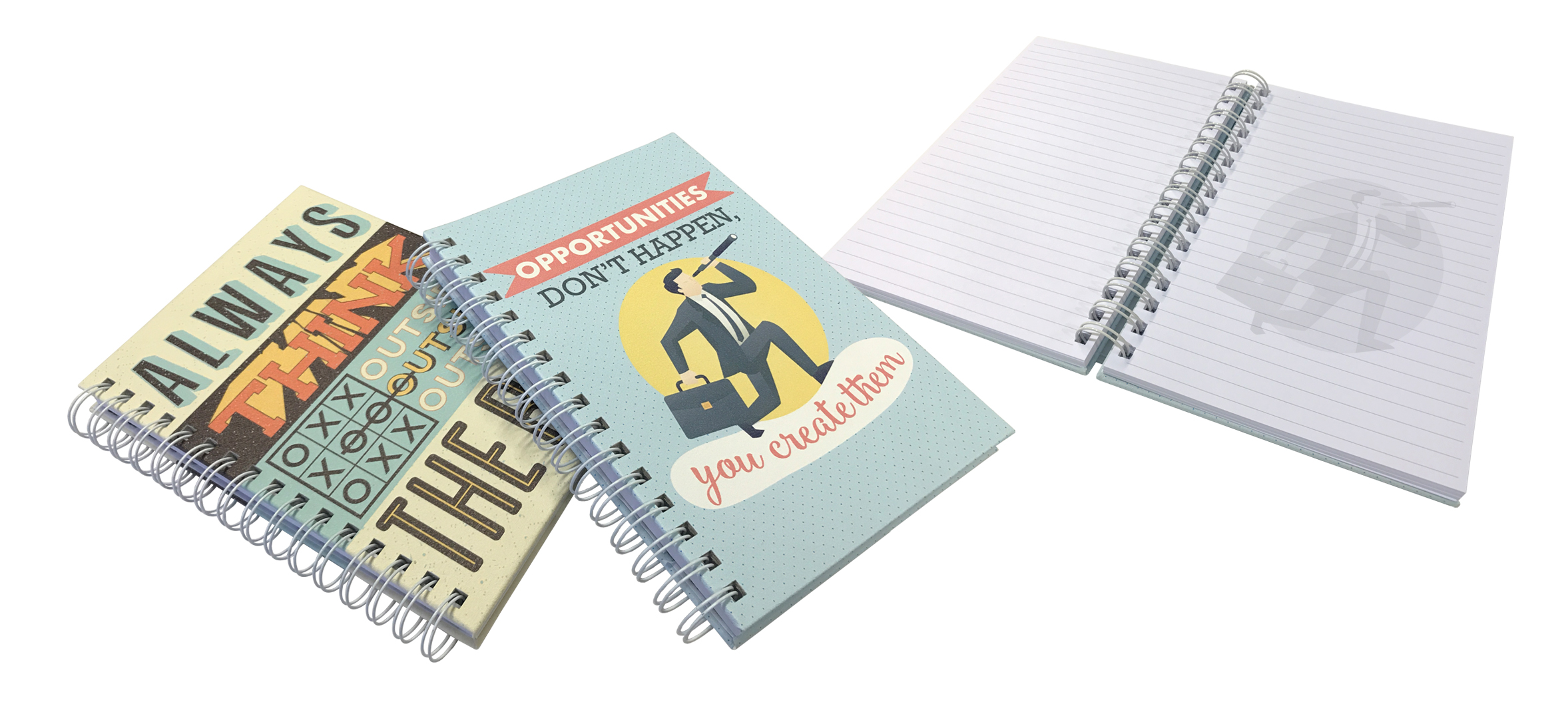 PU Hard Cover Wiro Notebook