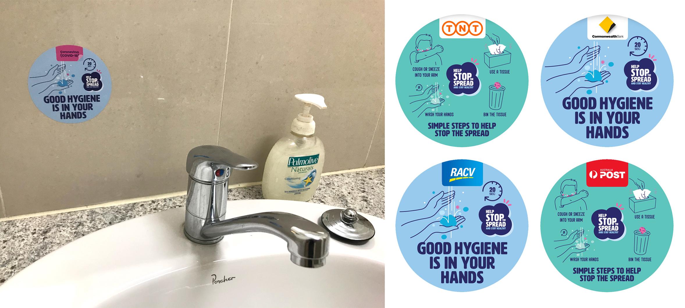 Hygiene Reminder Stickers