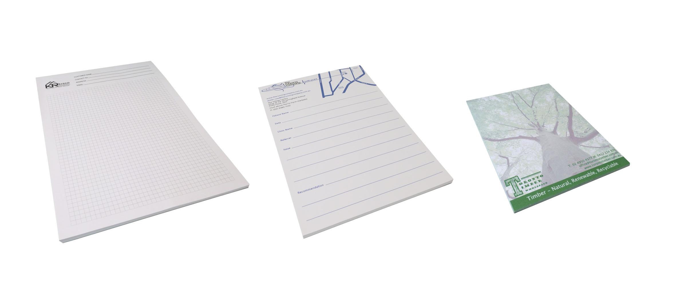 A6 / A5 / A4 Notepads