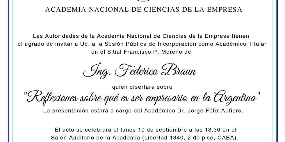 Incorporación Académica Ing. Federico Braun