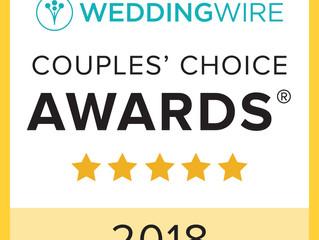Winner of the WEDDINGWIRE Couples' Choice Award 2018