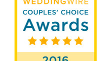 Winner of the WEDDINGWIRE Couples' Choice Award 2016