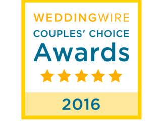 Winner of the WEDDINGWIRE Couples' Choice Award 2016